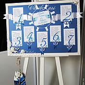 Свадебный салон ручной работы. Ярмарка Мастеров - ручная работа План рассадки в морском стиле.Море. Handmade.
