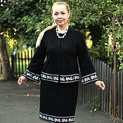 """Одежда ручной работы. Ярмарка Мастеров - ручная работа Вязаный жаккардовый костюм """"Леди совершенство"""" чёрный. Handmade."""