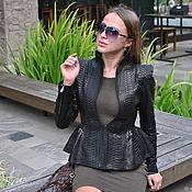 Одежда handmade. Livemaster - original item Python Pleasure leather jacket. Handmade.