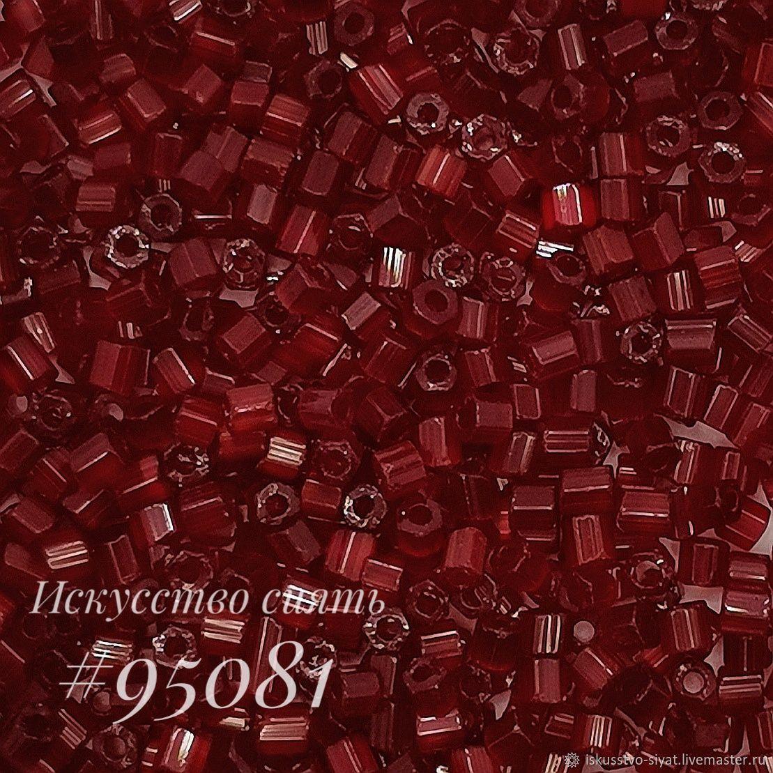 Сатиновая рубка Preciosa, Чехия, гранатовая (95081), Бисер, Кострома,  Фото №1