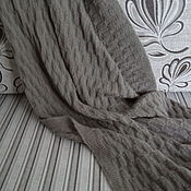 Для дома и интерьера ручной работы. Ярмарка Мастеров - ручная работа Плед вязаный. Handmade.