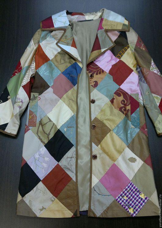 Верхняя одежда ручной работы. Ярмарка Мастеров - ручная работа. Купить Плащ из натурального шёлка. Handmade. Абстрактный