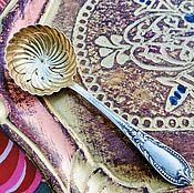 Винтаж ручной работы. Ярмарка Мастеров - ручная работа Старинная ложка-черпак для сахарной пудры посеребрение Франция. Handmade.