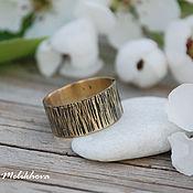 Украшения handmade. Livemaster - original item Textured brass ring. Handmade.