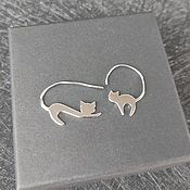 Украшения handmade. Livemaster - original item Silver earrings for women