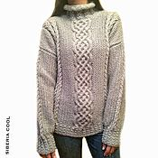 Одежда handmade. Livemaster - original item Sweater women`s Sparkling snow, sequins, wool, cashmere. Handmade.