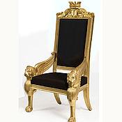 Кресла ручной работы. Ярмарка Мастеров - ручная работа Кресло с короной из бука (№062). Handmade.