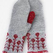 Аксессуары handmade. Livemaster - original item Knitted mittens bright winter. Handmade.
