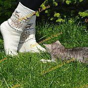 Аксессуары handmade. Livemaster - original item Socks: Soft wool socks. Handmade.