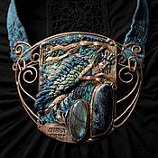 """Украшения ручной работы. Ярмарка Мастеров - ручная работа """"L`Oiseau bleu"""" колье вышивка. Handmade."""