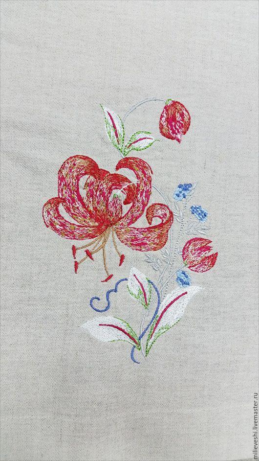 Текстиль, ковры ручной работы. Ярмарка Мастеров - ручная работа. Купить Скатерть льняная Мамин палисадник. Handmade. Комбинированный, цветы