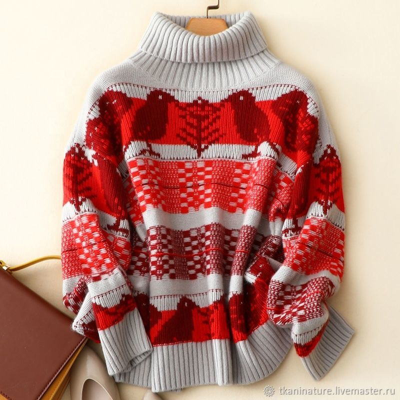 Sweater with an ornament-cashmere 100%, Sweaters, Ekaterinburg,  Фото №1
