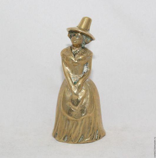 Винтажные предметы интерьера. Ярмарка Мастеров - ручная работа. Купить Старый колокольчик девушка дама бронза Англия 62. Handmade.