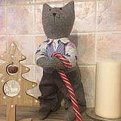 Мягкие игрушки ручной работы. Ярмарка Мастеров - ручная работа Кот, котик, котэ, кот текстильный. Handmade.