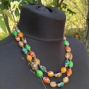 Винтаж handmade. Livemaster - original item caramels. Necklace-beads. Post-war Germany.. Handmade.