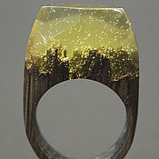 """Украшения ручной работы. Ярмарка Мастеров - ручная работа Деревянное кольцо """"Волшебная  принцесса 25"""", кольцо из дерева. Handmade."""