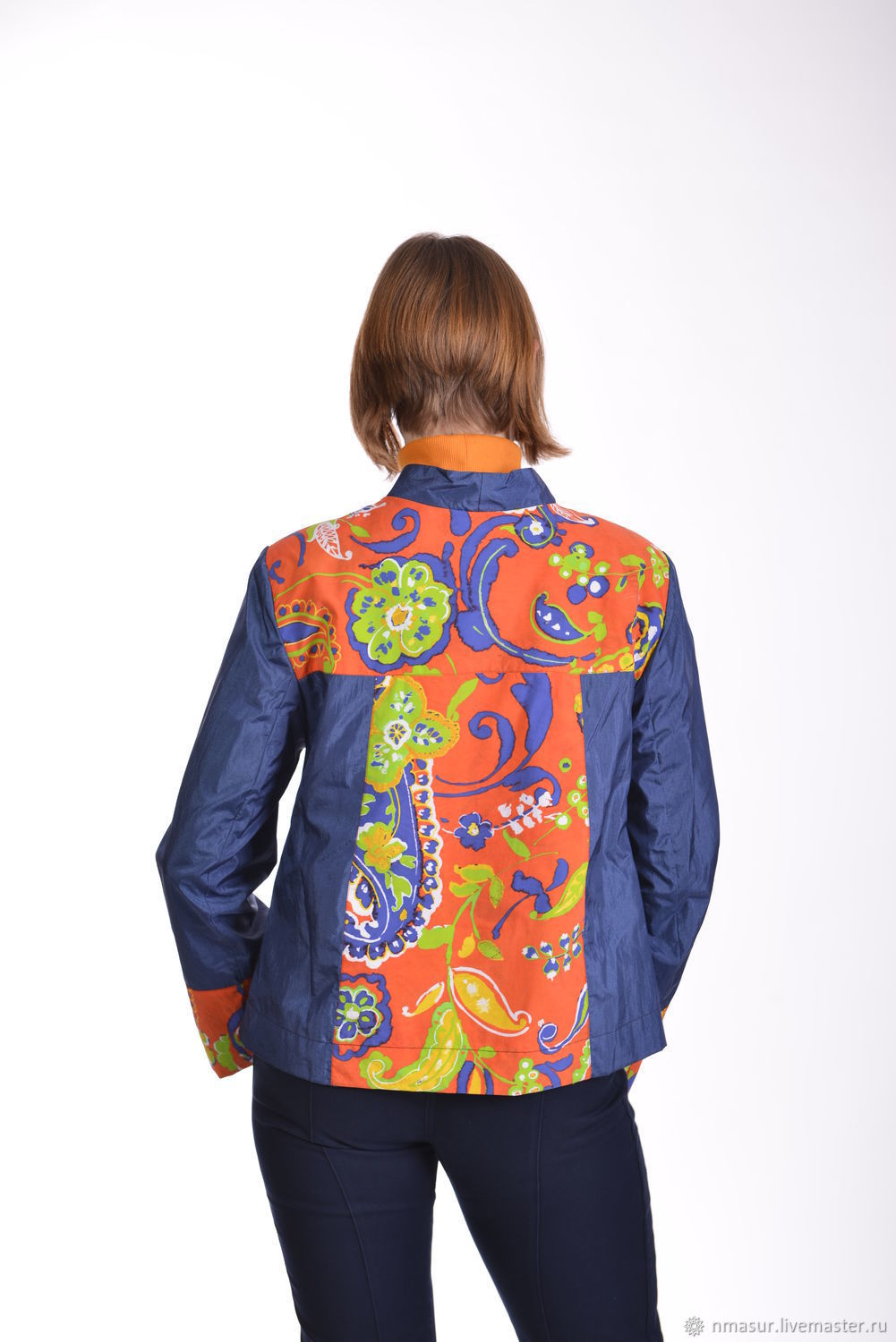 Outer Clothing handmade. Livemaster - handmade. Buy The author's jacket 'Bright colors'.Handmade, forget-me-not