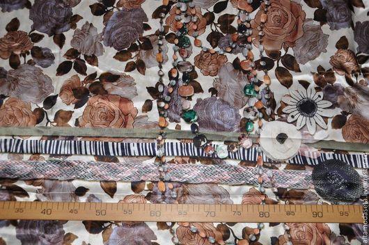"""Шитье ручной работы. Ярмарка Мастеров - ручная работа. Купить Шелк  """"Dolce&Gabbana"""". Handmade. Ткани для рукоделия, одежда для женщин"""