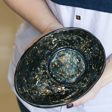 Посуда ручной работы. Ярмарка Мастеров - ручная работа Салатники: Космический. Handmade.
