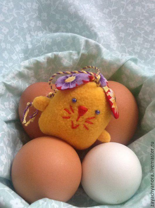 """Игрушки животные, ручной работы. Ярмарка Мастеров - ручная работа. Купить Брелок зайка """" Цыплёнок"""". Handmade. Желтый, цыпленок"""