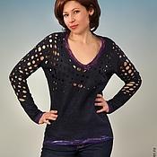 Пуловер валяный 100% ультратонкая мериносовая шерсть