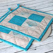 Для дома и интерьера ручной работы. Ярмарка Мастеров - ручная работа Прихватки в морском стиле. Handmade.