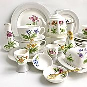 Посуда handmade. Livemaster - original item Painted porcelain tea Set Primrose. Handmade.