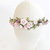 Украшения ручной работы. Ярмарка Мастеров - ручная работа Венок для невесты, венок для прически, цветочный венок. Handmade.