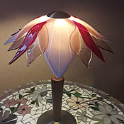 Для дома и интерьера handmade. Livemaster - original item Lily lamp made of glass, fusing. Handmade.