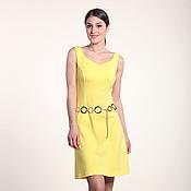 Одежда ручной работы. Ярмарка Мастеров - ручная работа 275: летнее платье без рукавов, повседневное платье на лето желтое. Handmade.