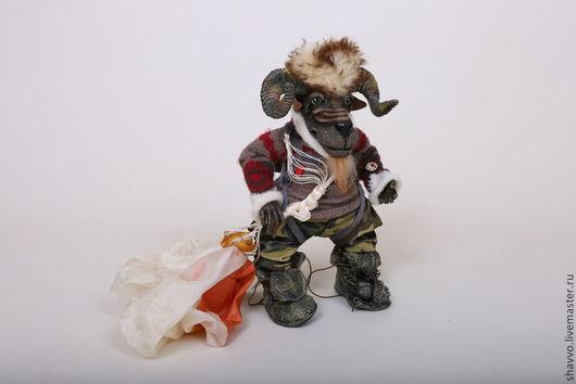 Куклы и игрушки ручной работы. Ярмарка Мастеров - ручная работа. Купить Баран - парашютист (SkyDeBARAN). Handmade. Баран, смешной подарок