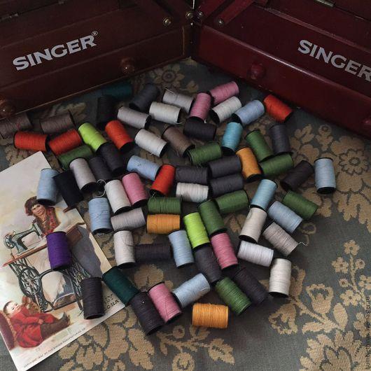 Винтажные предметы интерьера. Ярмарка Мастеров - ручная работа. Купить старинные нитки zinger все базовые цвета. Handmade. Бежевый, куколка