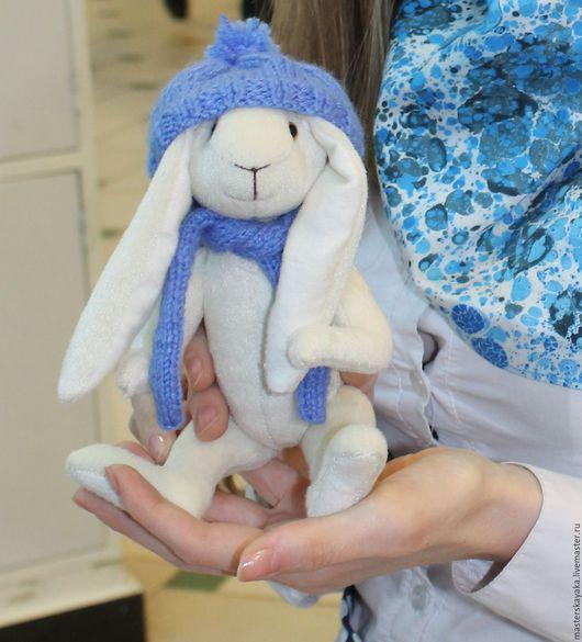 Мишки Тедди ручной работы. Ярмарка Мастеров - ручная работа. Купить На прогулке кролик был. Handmade. Белый