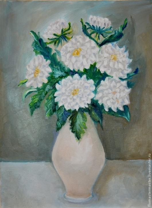 Картины цветов ручной работы. Ярмарка Мастеров - ручная работа. Купить Цветики-цветочки. Handmade. Разноцветный, картина в подарок