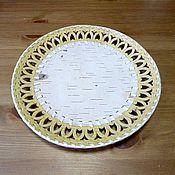 Для дома и интерьера handmade. Livemaster - original item Dish made of birch bark. the plate under the painting. Blank for painting. Handmade.