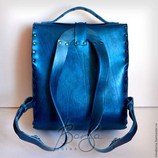 Женские сумки ручной работы. Ярмарка Мастеров - ручная работа. Купить Портфель UliUli. Handmade. Тёмно-синий, рюкзак женский