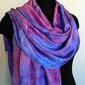 """Аксессуары ручной работы. Ярмарка Мастеров - ручная работа женский шелковый шарф """"Сияние"""". Handmade."""
