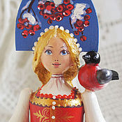 Куклы и игрушки handmade. Livemaster - original item Souvenir doll Ryabinushka. Wooden doll interior.. Handmade.