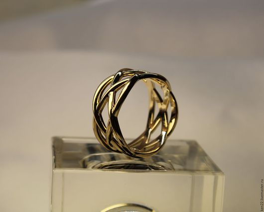 Кольца ручной работы. Ярмарка Мастеров - ручная работа. Купить Золотое кольцо Бесконечность. Handmade. Желтый, золотое кольцо, для девушки