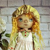 Куклы и игрушки ручной работы. Ярмарка Мастеров - ручная работа Кукла Авторская текстильная коллекционная интерьерная в чепчике Рыжая. Handmade.