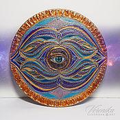 Картины и панно handmade. Livemaster - original item Ajna Mandala of Intuition and Insight. Handmade.