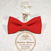 Аксессуары handmade. Livemaster - original item Red bow tie for groom handmade. Handmade.