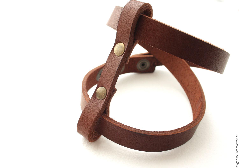 bracelet made of genuine leather, Bead bracelet, Volgograd,  Фото №1