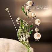 Украшения handmade. Livemaster - original item Silver Lily of the Valley Brooch. Handmade.