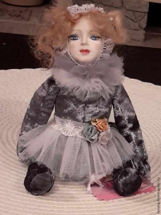 """Коллекционные куклы ручной работы. Ярмарка Мастеров - ручная работа. Купить Авторская тедди долл""""Муня"""". Handmade. Серый, бархат"""