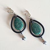 Украшения handmade. Livemaster - original item earrings with amazonite. Handmade.
