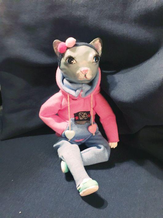 Куклы и игрушки ручной работы. Ярмарка Мастеров - ручная работа. Купить Кошка Муся. Handmade. Кукла интерьерная, кошка