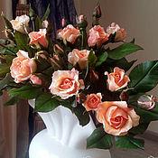 Цветы и флористика ручной работы. Ярмарка Мастеров - ручная работа Букет кустовых роз. Handmade.