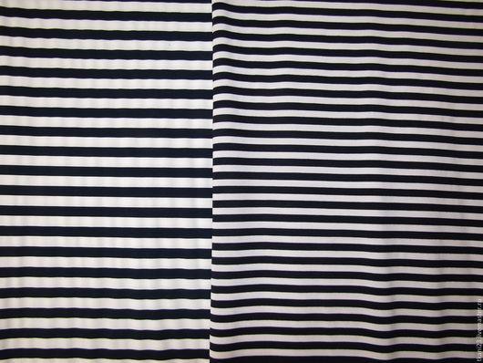 Шитье ручной работы. Ярмарка Мастеров - ручная работа. Купить Трикотаж полоски арт.31 ТЦ (Корея). Handmade. Белый