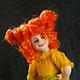 Коллекционные куклы ручной работы. Ярмарка Мастеров - ручная работа. Купить Авторская войлочная кукла Сентябрюшка. Handmade. Оранжевый, месяц